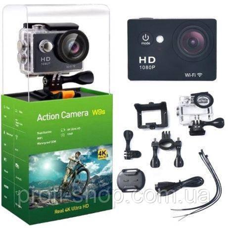 Экшн камера, Action camera W9s, Action camera HD с WiFi / 12Mp / 1080p