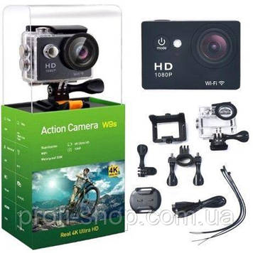 Экшн камера, Action camera W9s, Action camera HD с WiFi / 12Mp / 1080p