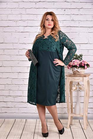 Шикарный нарядный костюм двойка платье+накидка размеры:42-74, фото 2