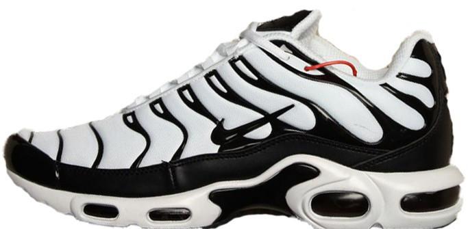 "Мужские кроссовки Nike Air Max Tn+ ""White/Black"" (Найк Аир Макс ТН Плюс) белые"