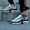 "Мужские кроссовки Nike Air Max Tn+ ""White/Black"" (Найк Аир Макс ТН Плюс) белые, фото 2"