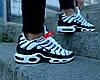 "Мужские кроссовки Nike Air Max Tn+ ""White/Black"" (Найк Аир Макс ТН Плюс) белые, фото 4"