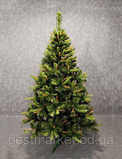 Искусственная Елка Юлия с Коричневыми и Зелеными Ростками 1,5 метра (150 см) Ель Новогодняя