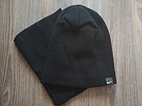 Спортивная шапка черная Nike в комплекте с горловиком , фото 1