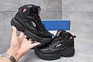 Зимние ботинки  на меху Fila Disruptor 2 High, черные (30191) размеры в наличии ► [  37 (последняя пара)  ], фото 2