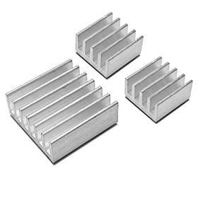 3x Радіатор алюмінієвий для Raspberry PI, комплект