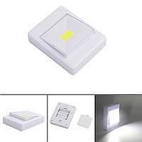 LED светильник лампа выключатель на батарейках 3Вт на магните, липучке