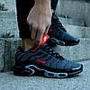 "Мужские кроссовки Nike Air Max Tn+ ""Grey/Red"" (Найк Аир Макс ТН Плюс) серые, фото 3"