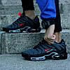 "Мужские кроссовки Nike Air Max Tn+ ""Grey/Red"" (Найк Аир Макс ТН Плюс) серые, фото 4"