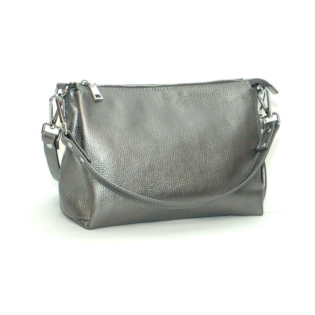 Женская кожаная сумка 36 никель 01360112