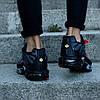 "Мужские кроссовки Nike Air Max Tn+ ""Grey/Red"" (Найк Аир Макс ТН Плюс) серые, фото 5"