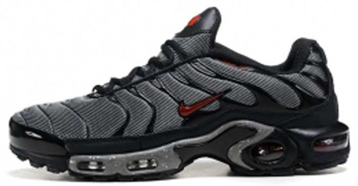 "Мужские кроссовки Nike Air Max Tn+ ""Grey/Red"" (Найк Аир Макс ТН Плюс) серые"