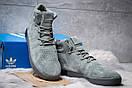 Зимние кроссовки  на мехуAdidas Tubular Invader Strap, серые (30443) размеры в наличии ► [  45 (последняя пара)  ], фото 3