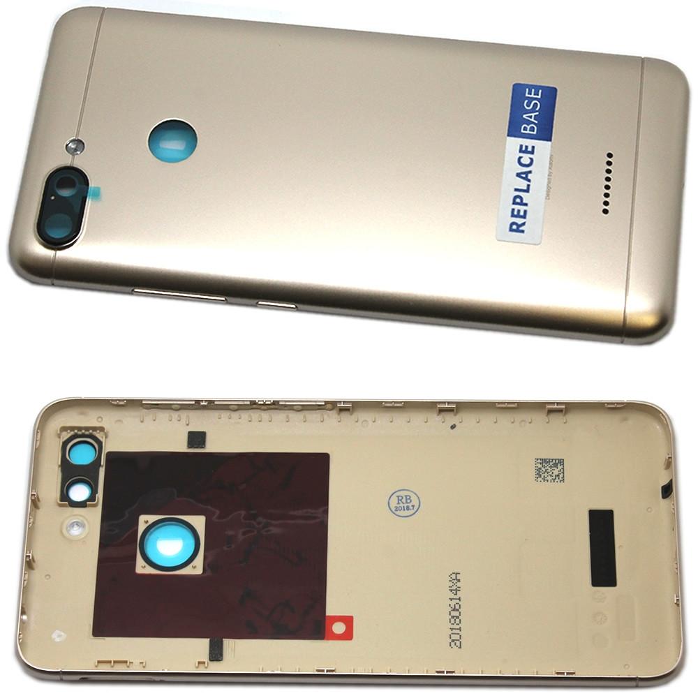 Задня кришка для смартфону Xiaomi Redmi 6A золотистого кольору