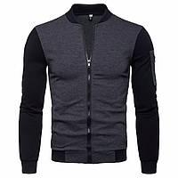 Модная мужская куртка демисезонная: весна-осень! Двухцветная куртка на молнии!, фото 1
