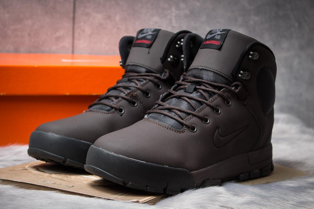 Зимние ботинки  на мехуNike LunRidge, коричневые (30522) размеры в наличии ► [  41 42 44 45  ]