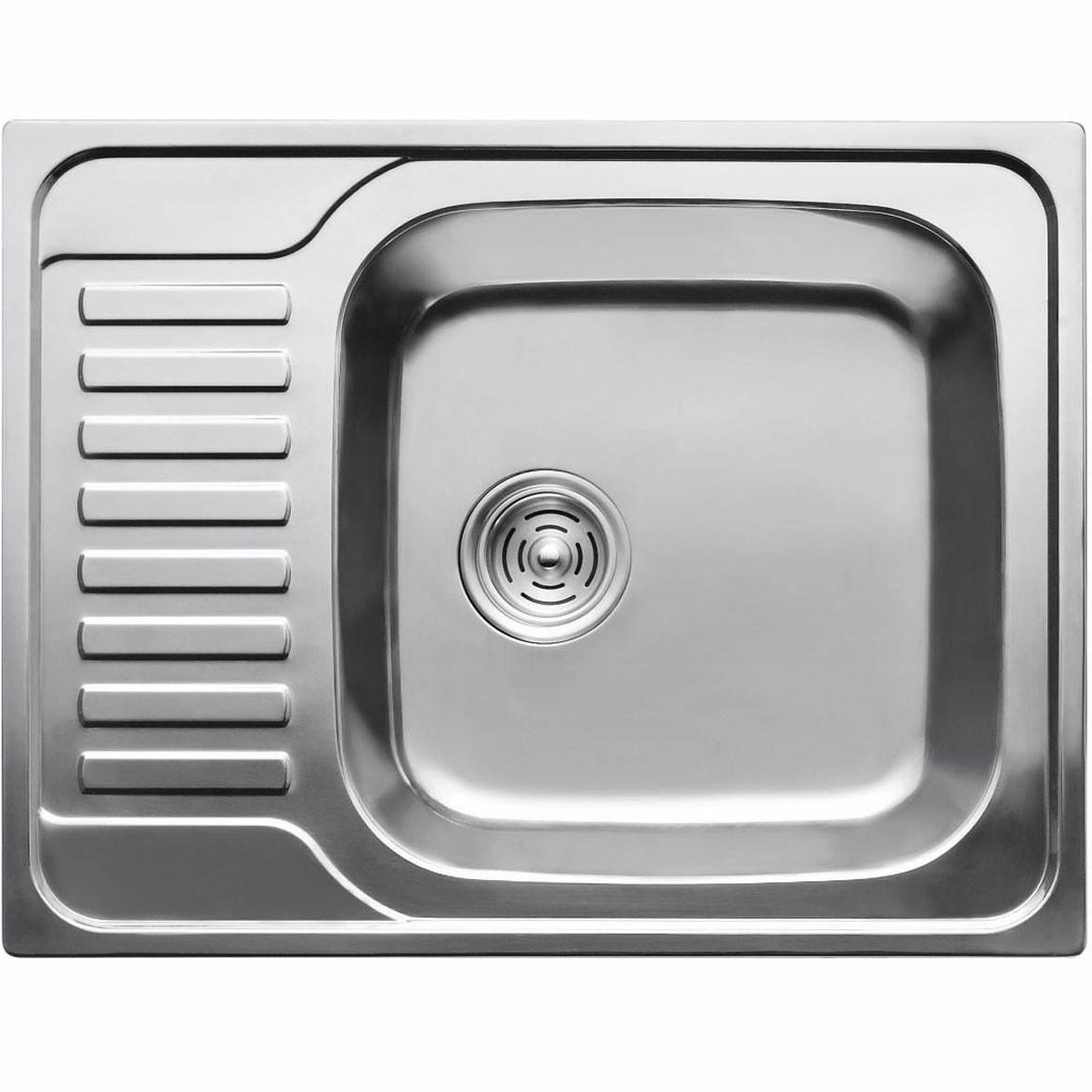 Кухонная мойка из нержавеющей стали ULA 7202 ZS polish 08mm