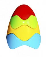 Пирамидка детская цветная.Товары для развлечений игрушки.Детская пластиковая пирамидка.