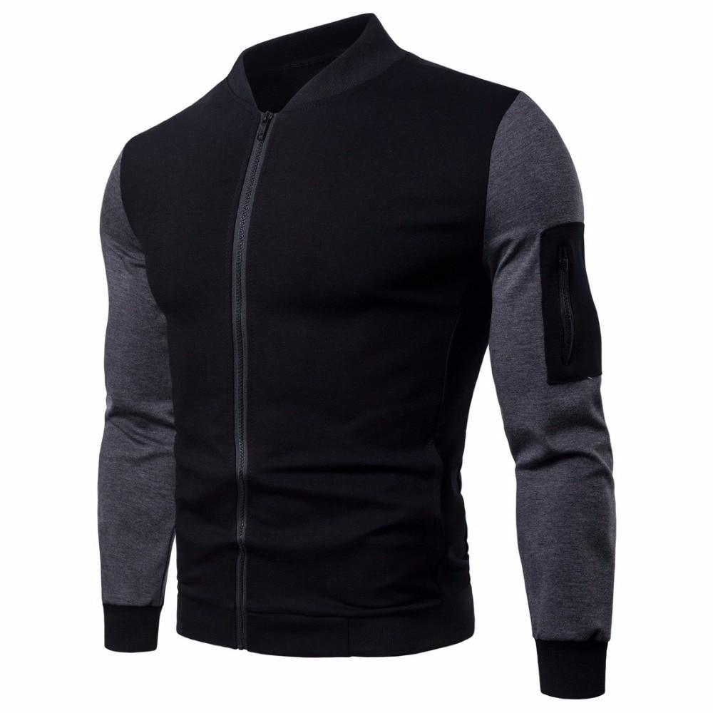 Модная мужская куртка демисезонная: весна-осень! Серо черная куртка на молнии!