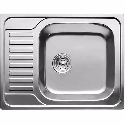 Кухонная мойка из нержавеющей стали ULA 7202 ZS satin  08mm, фото 2