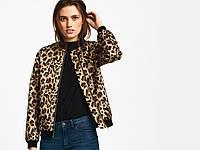Куртка женская, бомбер женский, леопардовый принт (размер 40), фото 1