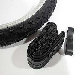 Велосипедний комплект гуми 20 х 1.95 дюймів (покришка, камера, фліппер)