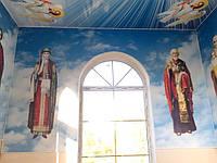 Образы Святых на стенах храма (печать на пвх)
