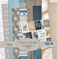 Набор бумаги Rustic Winter, 20х20 см, 10 листов