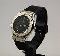 Мужские наручные часы Hublot Geneve Big Bang King 012538 серебро с черным