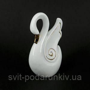 Статуэтка белый лебедь - фото