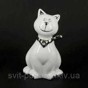 Статуэтка сидящего кота - фото