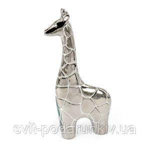 Фигурка жирафа с посеребрением - фото