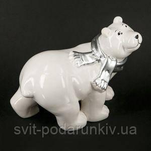 Статуэтка белый медведь - фото