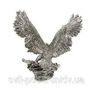 Статуэтка орла с посеребрением - фото