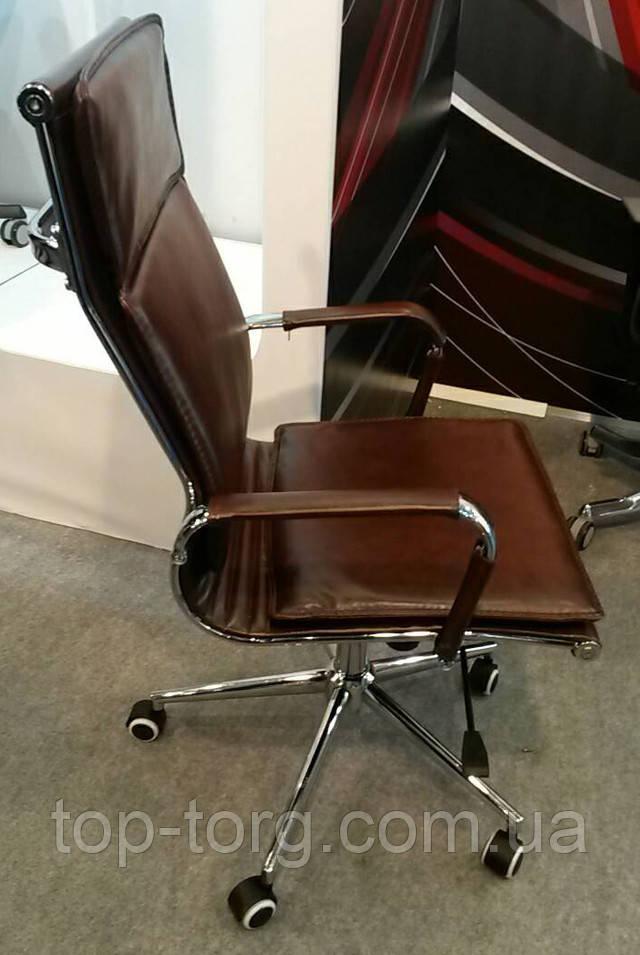 Кресло руководителя Special4You Solano 4 artleather brown (E5227) цвет коричневый Slim
