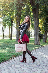 Женская сумка кожаная 26 пудра флотар 01260113