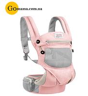 Эрго рюкзак UUMU 3в1 от 0 мес до 20 кг (слинг, сумка, хипсит, майслинг, кенгуру, переноска )