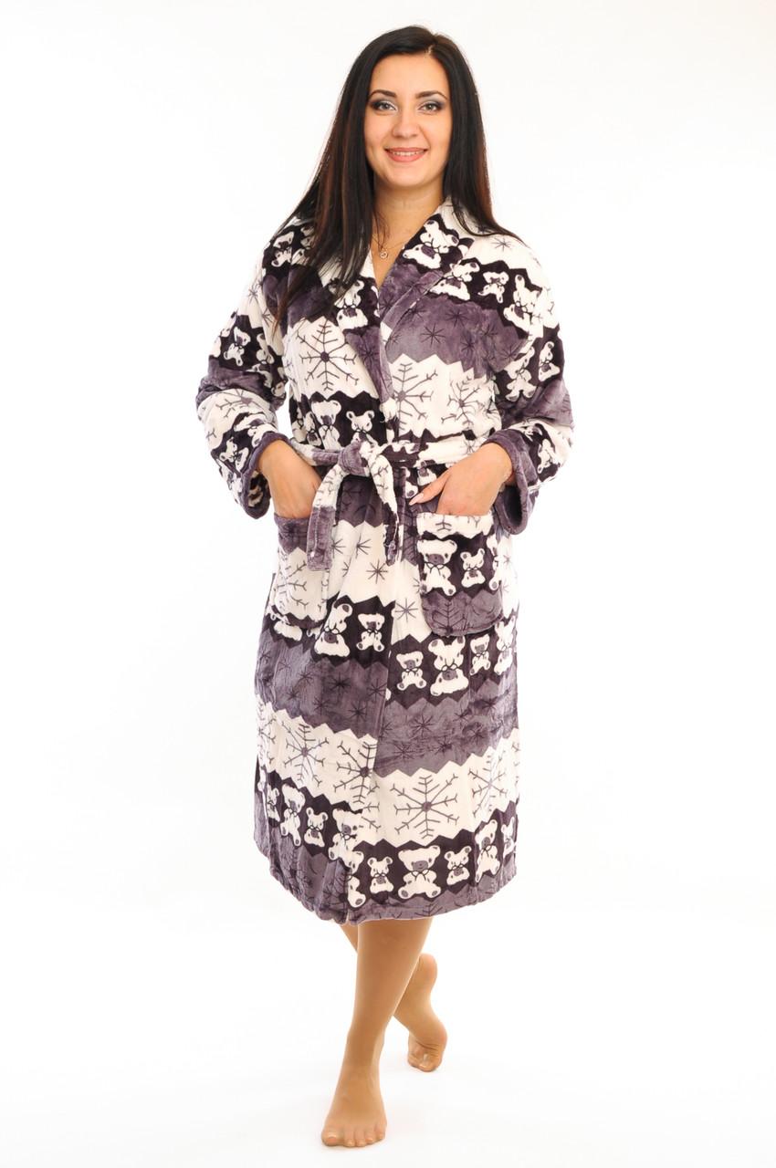 Женский халат на запах
