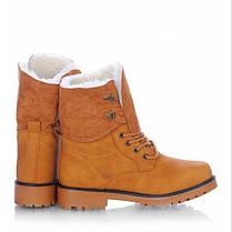 Черевики зимові високі на шнурівці (з відворотом), фото 2