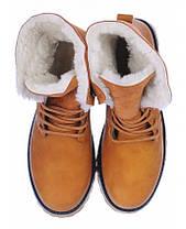 Черевики зимові високі на шнурівці (з відворотом), фото 3