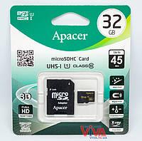 Карта памяти microSD Apacer 32 GB class 10 UHS-I U1 + Adapter