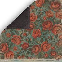 Бумага для скрапбукинга Time to Dream, Красные розы, 30х30 см