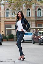 """Женские джинсовые леггинсы """"Rachel"""" с разрезами, фото 3"""