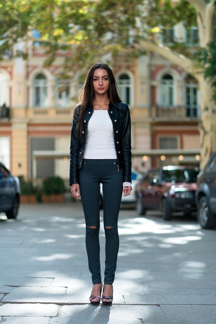"""Женские джинсовые леггинсы """"Rachel"""" с разрезами"""