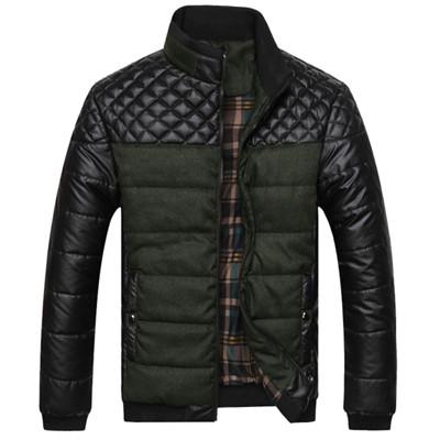 Модная мужская куртка демисезонная: весна-осень! Стильная черно зеленая куртка!