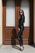 """Кожаные женские леггинсы """"Darda"""" с заклепками, фото 2"""