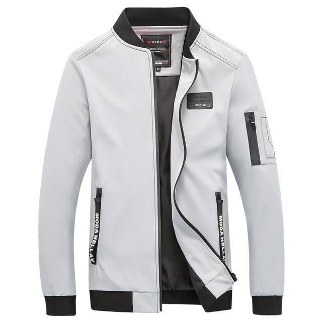 Модная мужская куртка демисезонная: весна-осень! Стильная белая куртка из экокожи