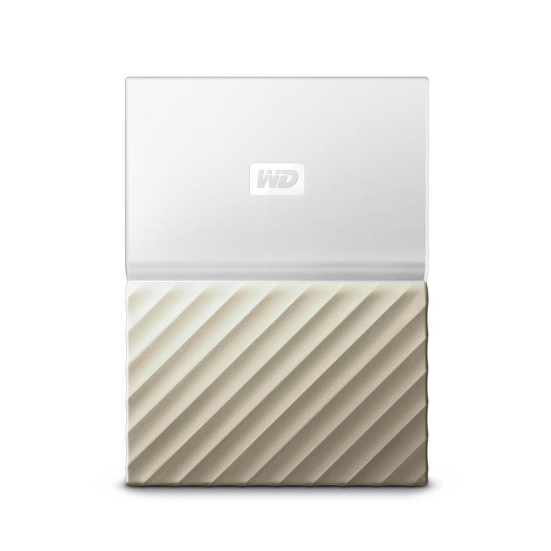 """Накопитель HDD ext 2.5"""" USB 4.0TB WD My Passport Ultra White/Gold (WDBFKT0040BGD-WESN)"""