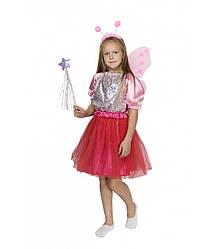 Карнавальный костюм ФЕЯ, БАБОЧКА для девочки 4,5,6,7,8,9 лет детский маскарадный новогодний костюм ФЕИ БАБОЧКИ