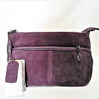 Чудесная женская сумочка из замши фиолетового цвета NEU-058000, фото 1